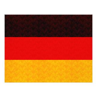Vintage Pattern German Flag Personalized Flyer
