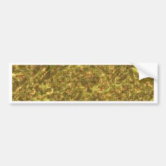 Vintage Pattern, golden Bumper Stickers