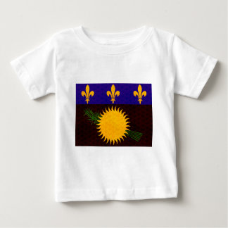 Vintage Pattern Guadeloupean Flag T-shirt