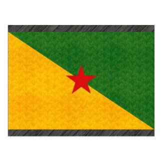 Vintage Pattern Guianese Flag Postcard
