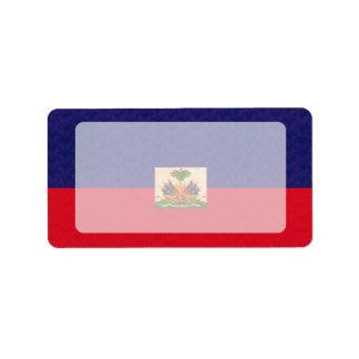 Vintage Pattern Haitian Flag Label