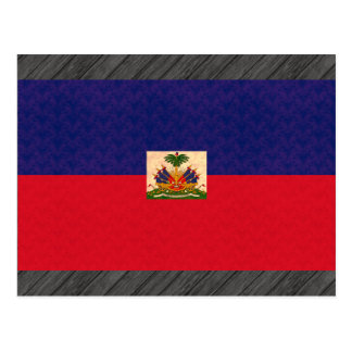 Vintage Pattern Haitian Flag Postcard