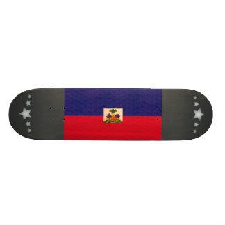 Vintage Pattern Haitian Flag Custom Skate Board