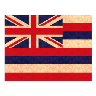 Vintage Pattern Hawaiian Flag Postcard