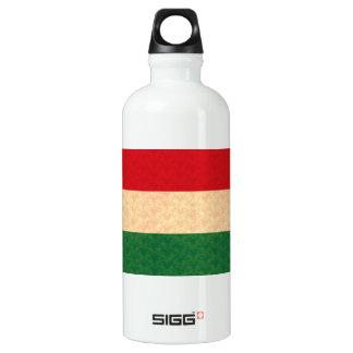 Vintage Pattern Hungarian Flag Water Bottle