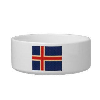 Vintage Pattern Icelander Flag Pet Food Bowl