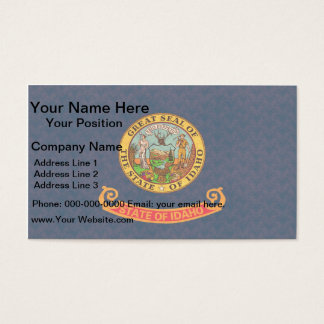 Vintage Pattern Idahoan Flag Business Card