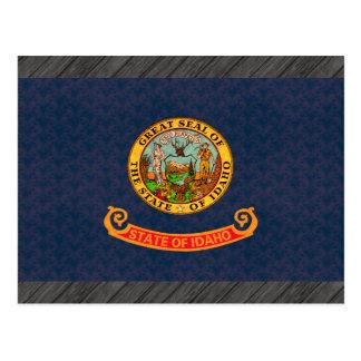 Vintage Pattern Idahoan Flag Postcard