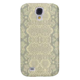 Vintage Pattern in Yellow and Gray Galaxy S4 Cover