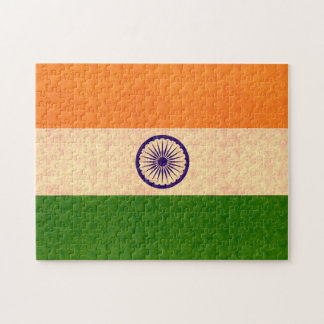 Vintage Pattern Indian Flag Jigsaw Puzzles