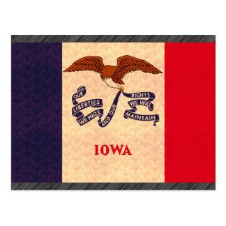 Vintage Pattern Iowan Flag Postcard