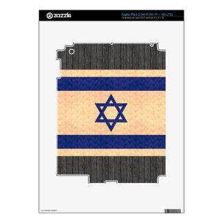 Vintage Pattern Israeli Flag Decals For iPad 3
