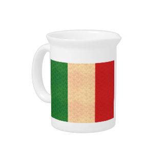 Vintage Pattern Italian Flag Pitchers