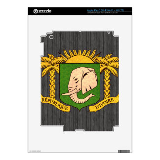 Vintage Pattern Ivorian Flag Decal For iPad 3