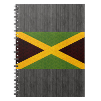 Vintage Pattern Jamaican Flag Spiral Notebook