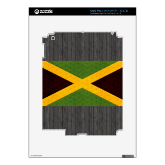 Vintage Pattern Jamaican Flag Decals For iPad 3