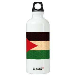 Vintage Pattern Jordanian Flag Aluminum Water Bottle