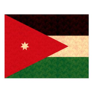 Vintage Pattern Jordanian Flag Postcard