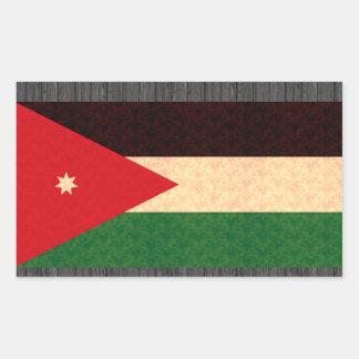Vintage Pattern Jordanian Flag Rectangular Sticker