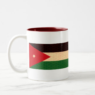 Vintage Pattern Jordanian Flag Two-Tone Coffee Mug