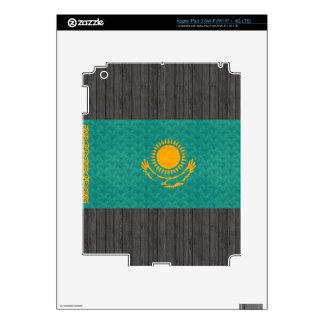 Vintage Pattern Kazakhstani Flag Decals For iPad 3