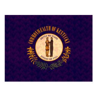 Vintage Pattern Kentuckee Flag Postcard