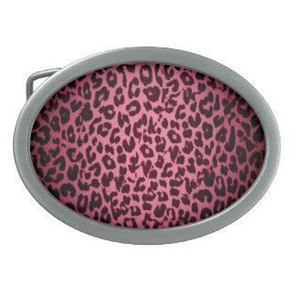 Vintage pattern leopard fur texture belt buckle