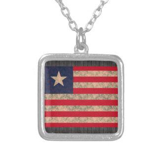 Vintage Pattern Liberian Flag Jewelry