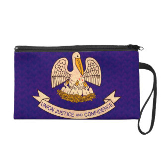Vintage Pattern Louisianan Flag Wristlet Purses