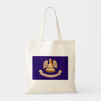 Vintage Pattern Louisianan Flag Tote Bags