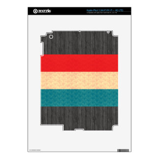 Vintage Pattern Luxembourger Flag iPad 3 Skin
