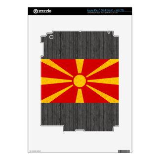 Vintage Pattern Macedonian Flag Skins For iPad 3