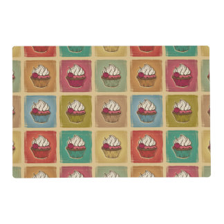 Vintage pattern made of cupcakes placemat