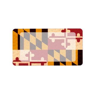 Vintage Pattern Marylander Flag Label