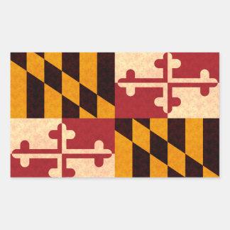 Vintage Pattern Marylander Flag Rectangular Sticker