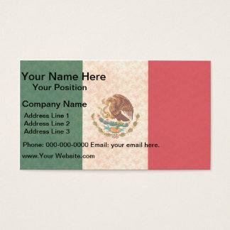 Vintage Pattern Mexican Flag Business Card