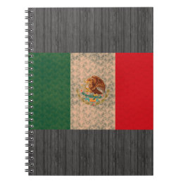 Vintage Pattern Mexican Flag Notebook