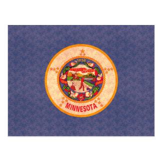 Vintage Pattern Minnesotan Flag Postcard