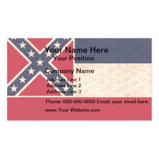 Vintage Pattern Mississippian Flag Business Card