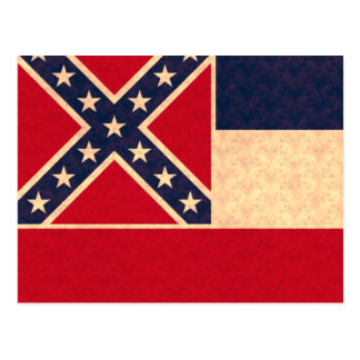 Vintage Pattern Mississippian Flag Postcard