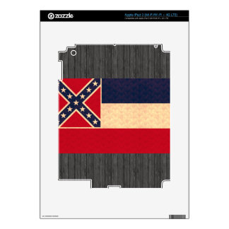 Vintage Pattern Mississippian Flag Decal For iPad 3