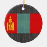 Vintage Pattern Mongolian Flag Ornaments