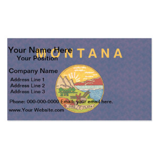 Vintage Pattern Montanan Flag Business Card Templates