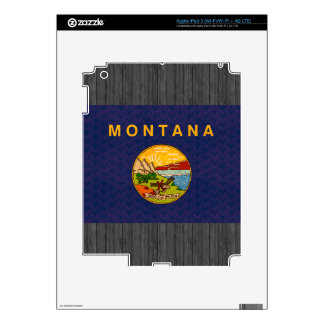 Vintage Pattern Montanan Flag Decal For iPad 3