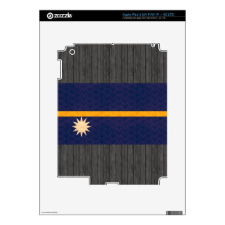 Vintage Pattern Nauruan Flag Skins For iPad 3