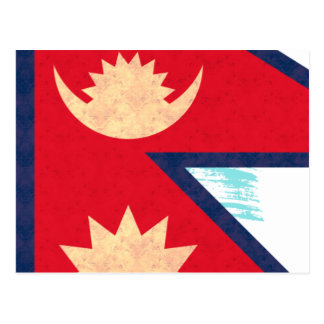 Vintage Pattern Nepalese Flag Post Cards