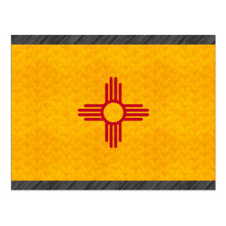 Vintage Pattern New Mexican Flag Postcard