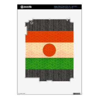 Vintage Pattern Nigerien Flag Skin For iPad 3