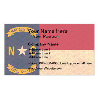 Vintage Pattern North Carolinian Flag Double-Sided Standard Business Cards (Pack Of 100)