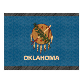 Vintage Pattern Oklahoman Flag Postcard